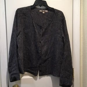 Flax brand cardi/buttoned top sz s